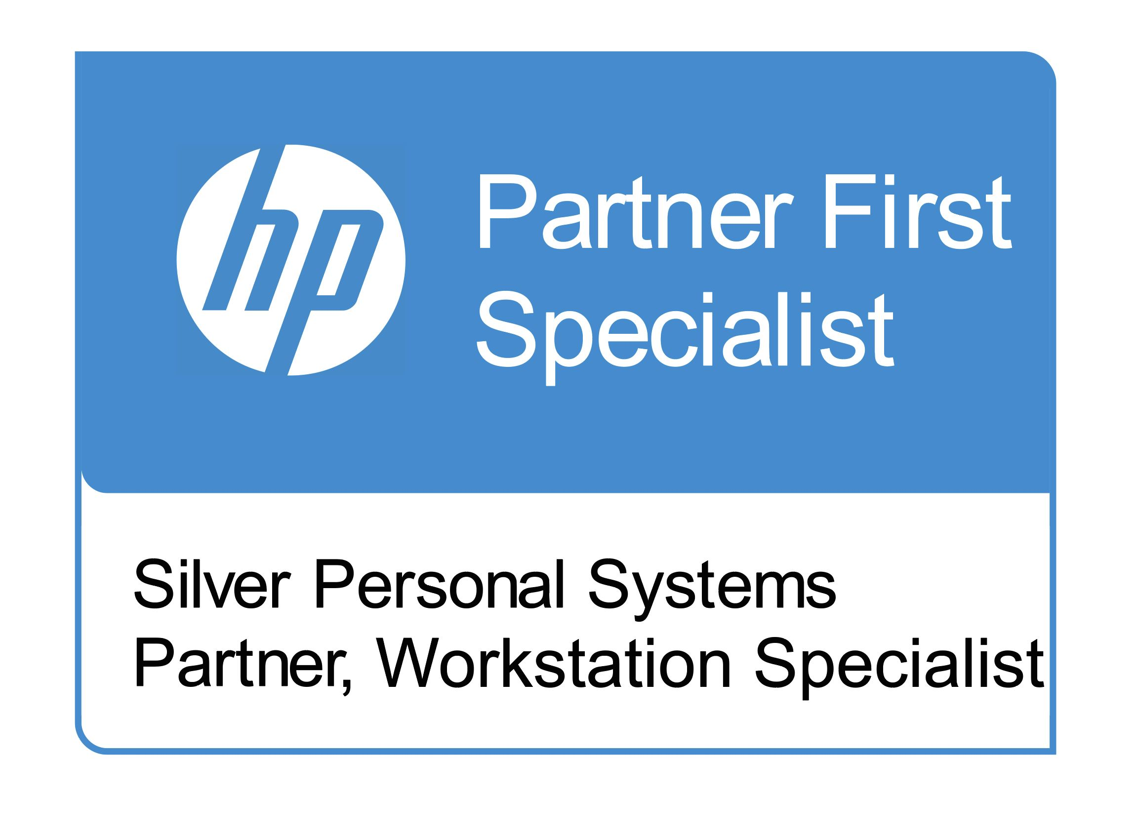 Logotyp för HP Silver Partner Workstation Specialists